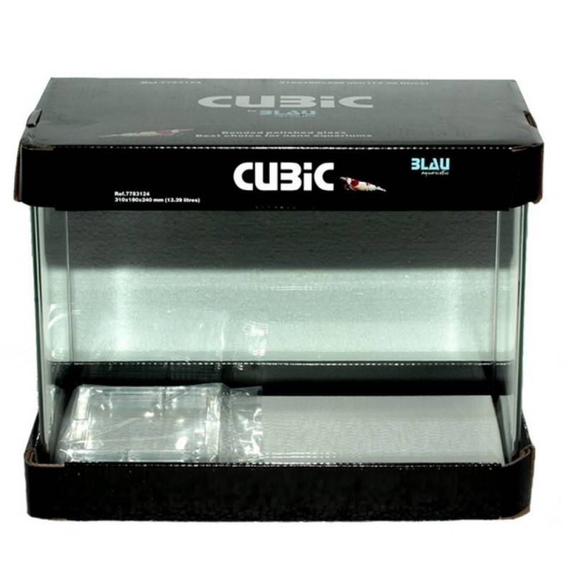 Acuario Cubic 45x28x30 cm Blau