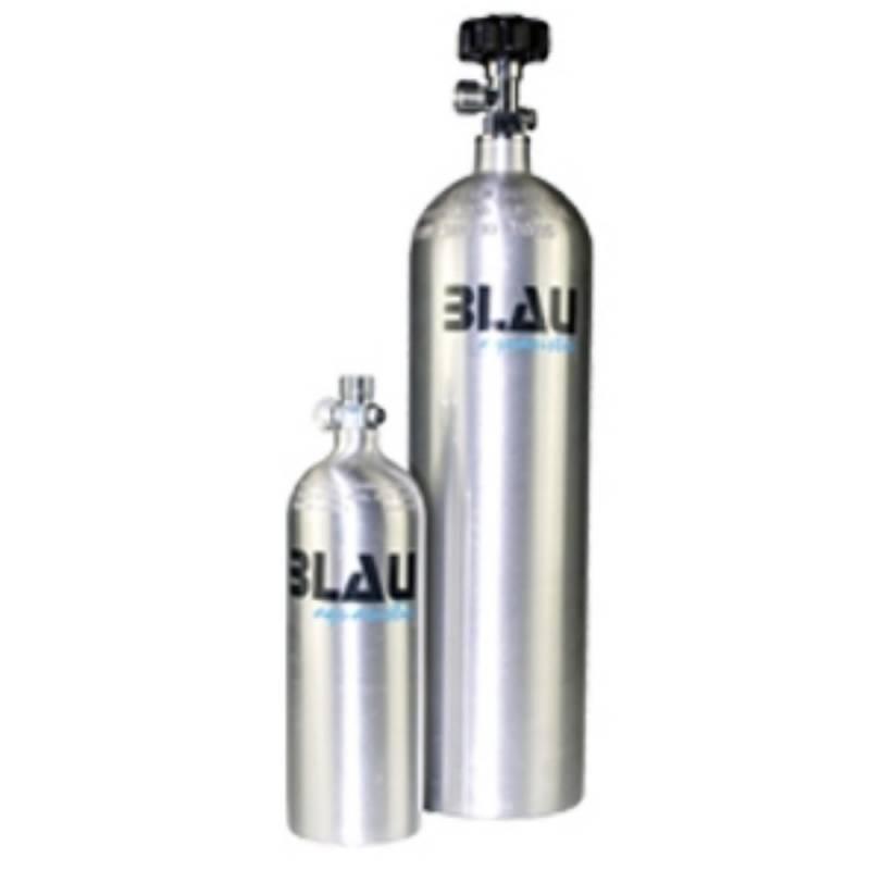 Botella de aluminio de CO2 0.82 litros. Blau