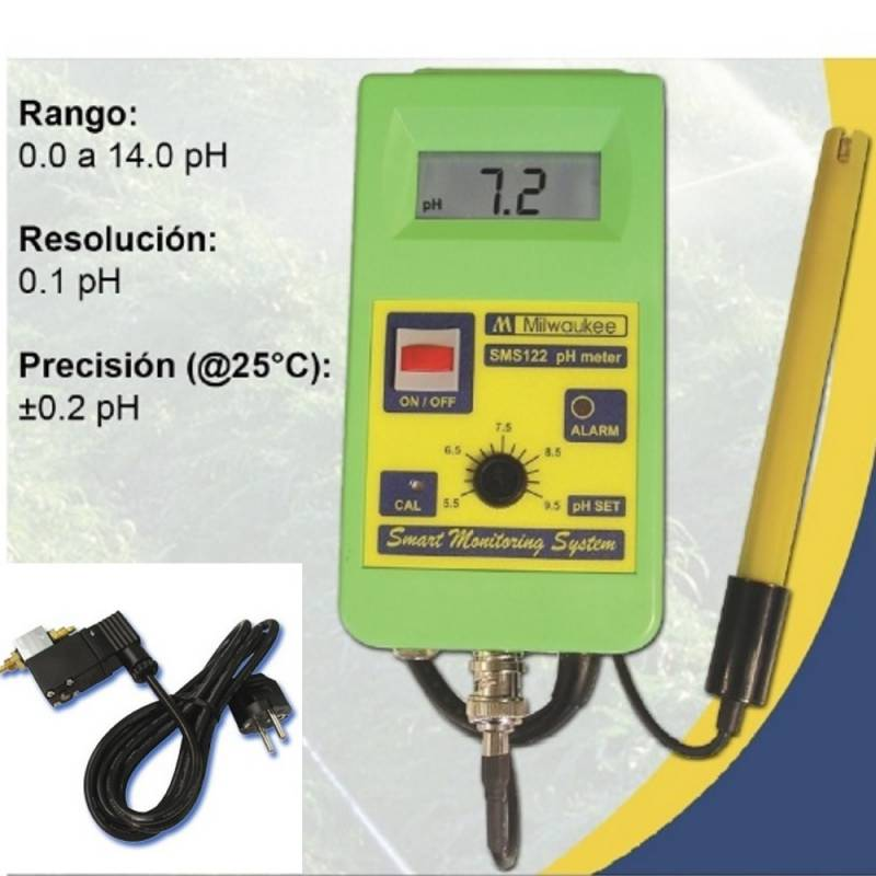 Kit controlador PH SMS122 con electroválvula CO2